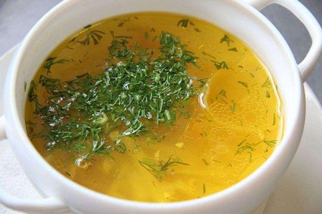 Супы и бульоны рекомендованы